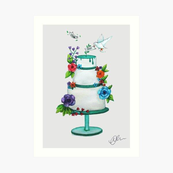 2021 Wedding Cake Art Print