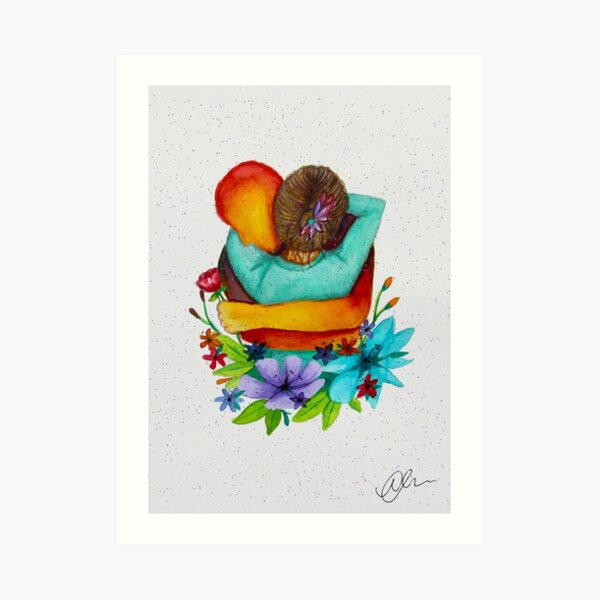 Virtual Hug (Confetti) Art Print