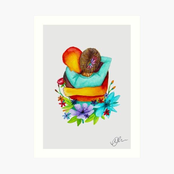 Virtual Hug Art Print