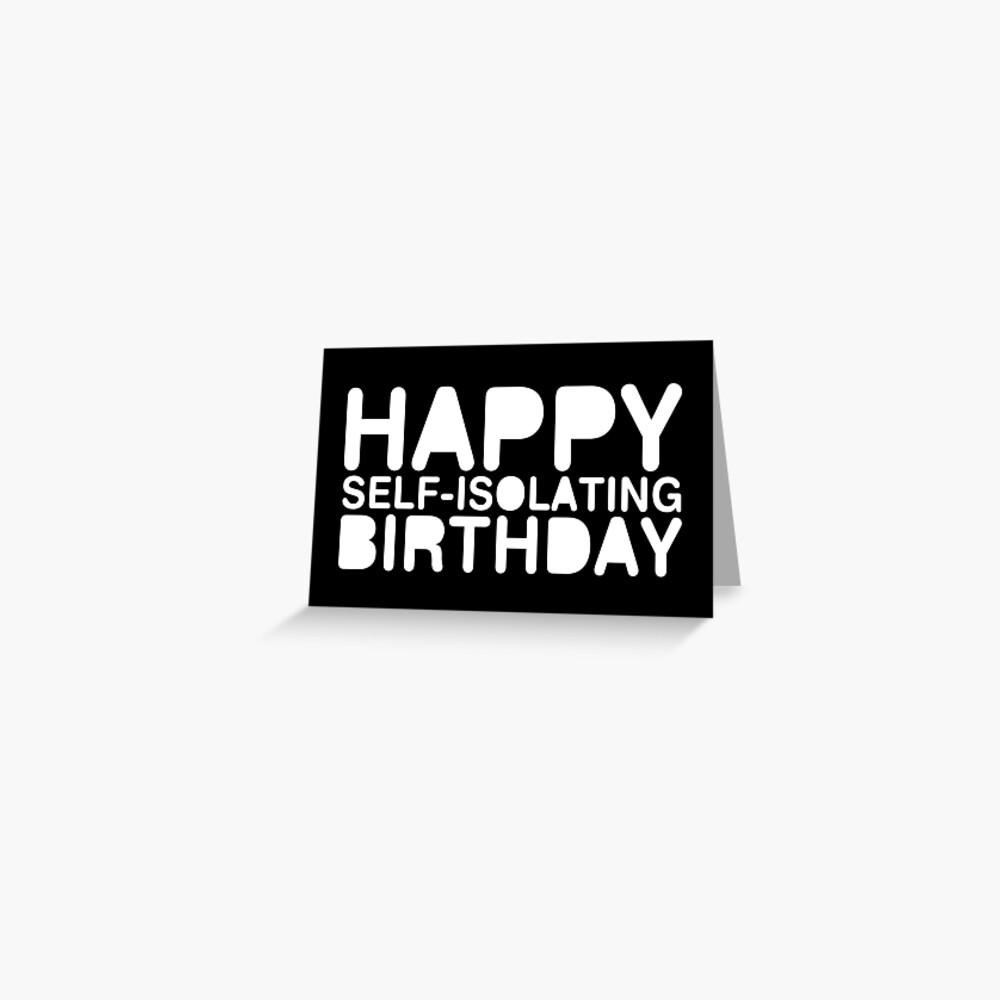 PERSONALISED BIRTHDAY FRIEND CORONA CARD ISOLATED LOCKDOWN SANITISER FUNNY