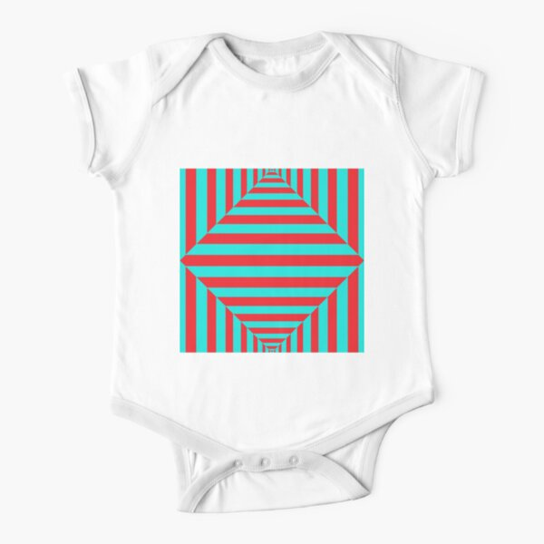 Geometric Composition Art #Geometric #Composition #Art #GeometricCompositionArt #GeometricComposition Short Sleeve Baby One-Piece