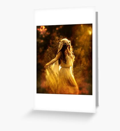 Dancing Maiden Greeting Card
