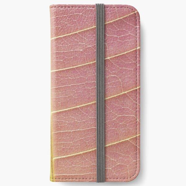 Pink macro print iPhone Wallet