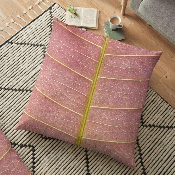 Pink macro print Floor Pillow