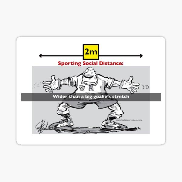 Sporting Social Distance Sticker