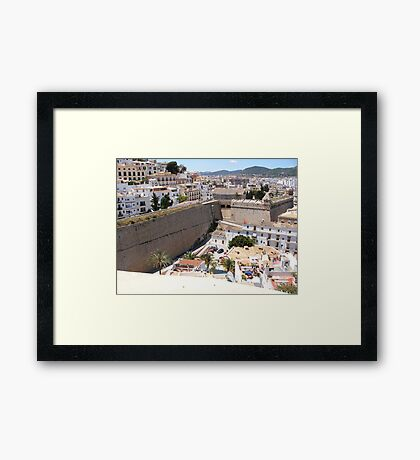 Looking Over Ibiza Town Framed Print