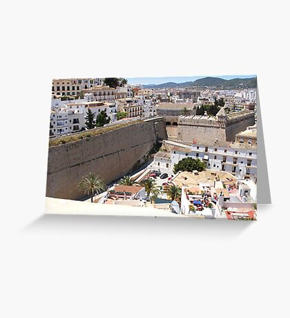 Looking Over Ibiza Town Greeting Card