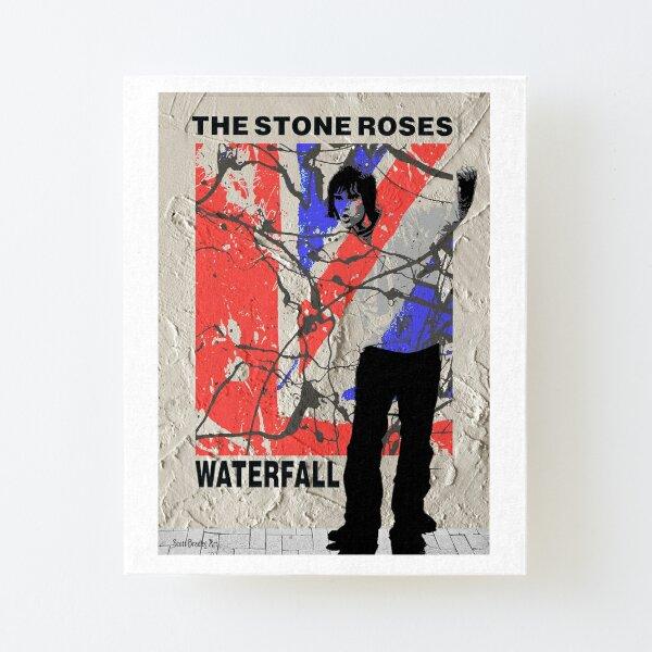 Cascada 1989 - Rosas de piedra Lámina montada de lienzo