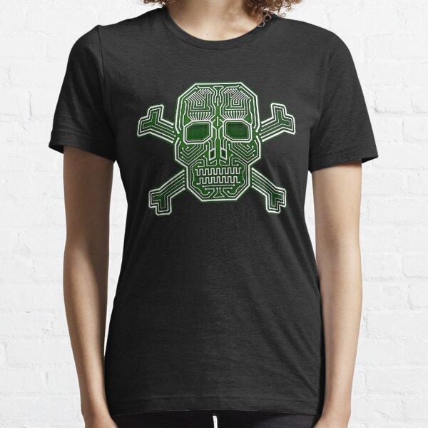 Hacker Skull Crossbones Isolated Camiseta esencial