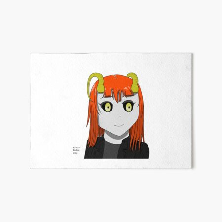 Literally Hell - Anime Lucy Art Board Print
