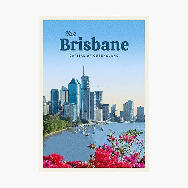 Visit Brisbane Photographic Print