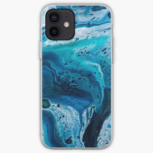Hurricane Hallie (Marbled Acrylic Pour) iPhone Soft Case