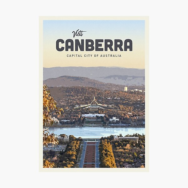 Visit Canberra Photographic Print