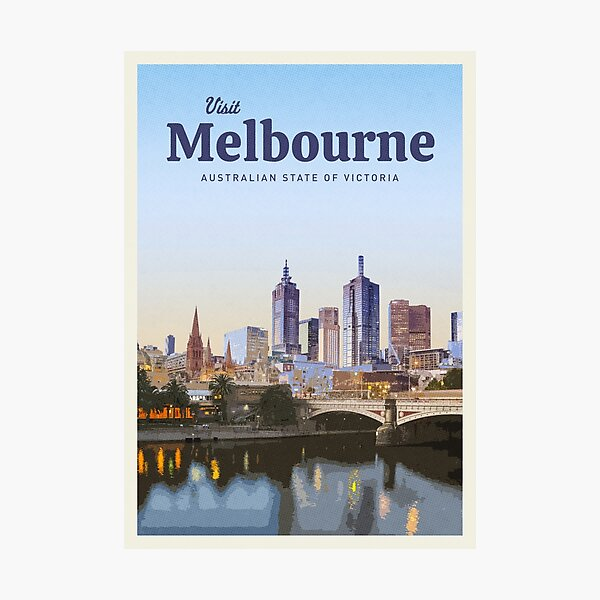 Visit Melbourne Photographic Print