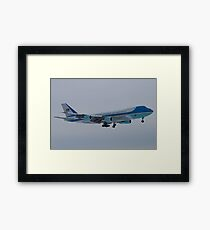 Side Shot of Air Force One On Approach to KCLE January 2012 Framed Print