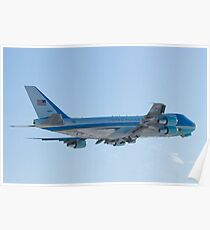 Rear Shot of 92-9000 Air Force One Departing KCLE January 2012 Poster