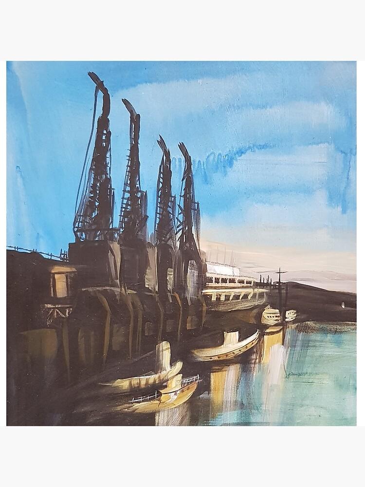Bristol M Shed Harbour Cranes by GertLushDesigns