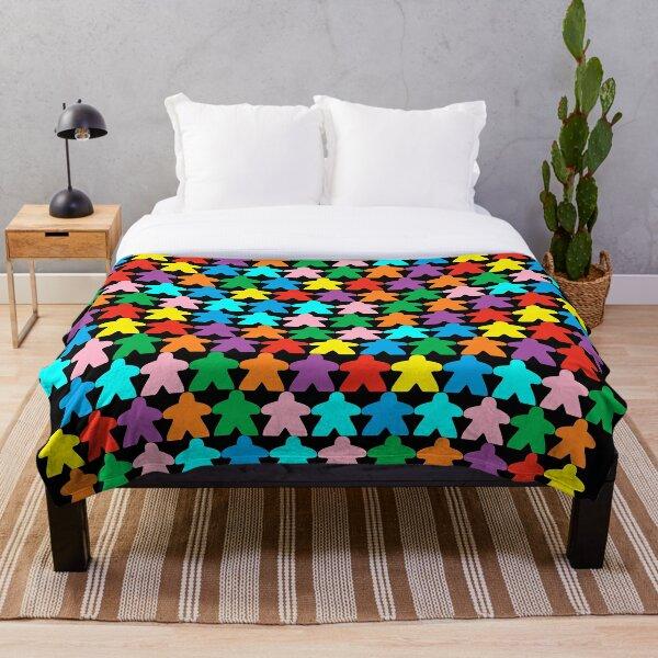 Colorful Meeples Throw Blanket