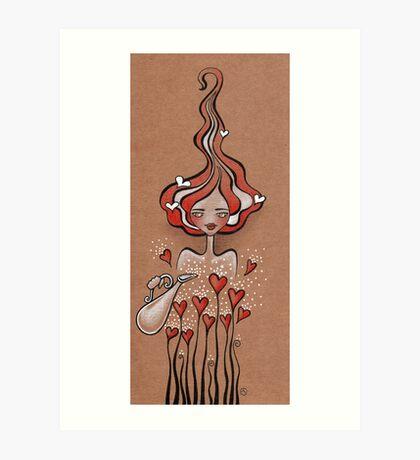 Lady Valentine Art Print