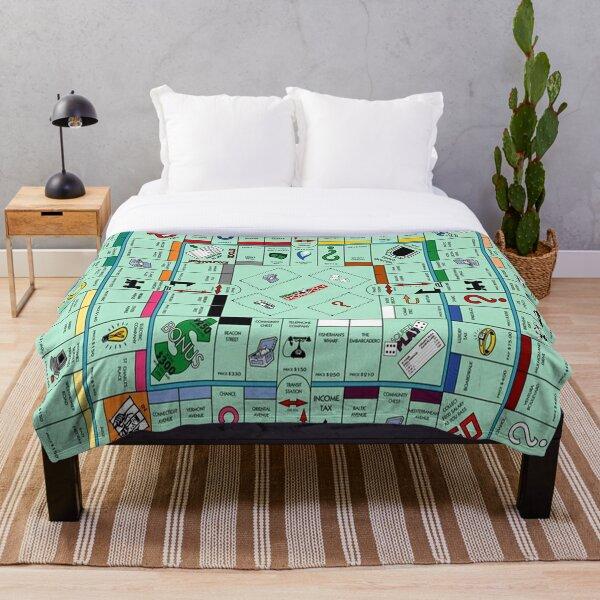 Monolopy Board Game Design Throw Blanket