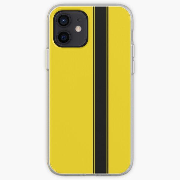 Racing Stripe - Black on Yellow iPhone Soft Case