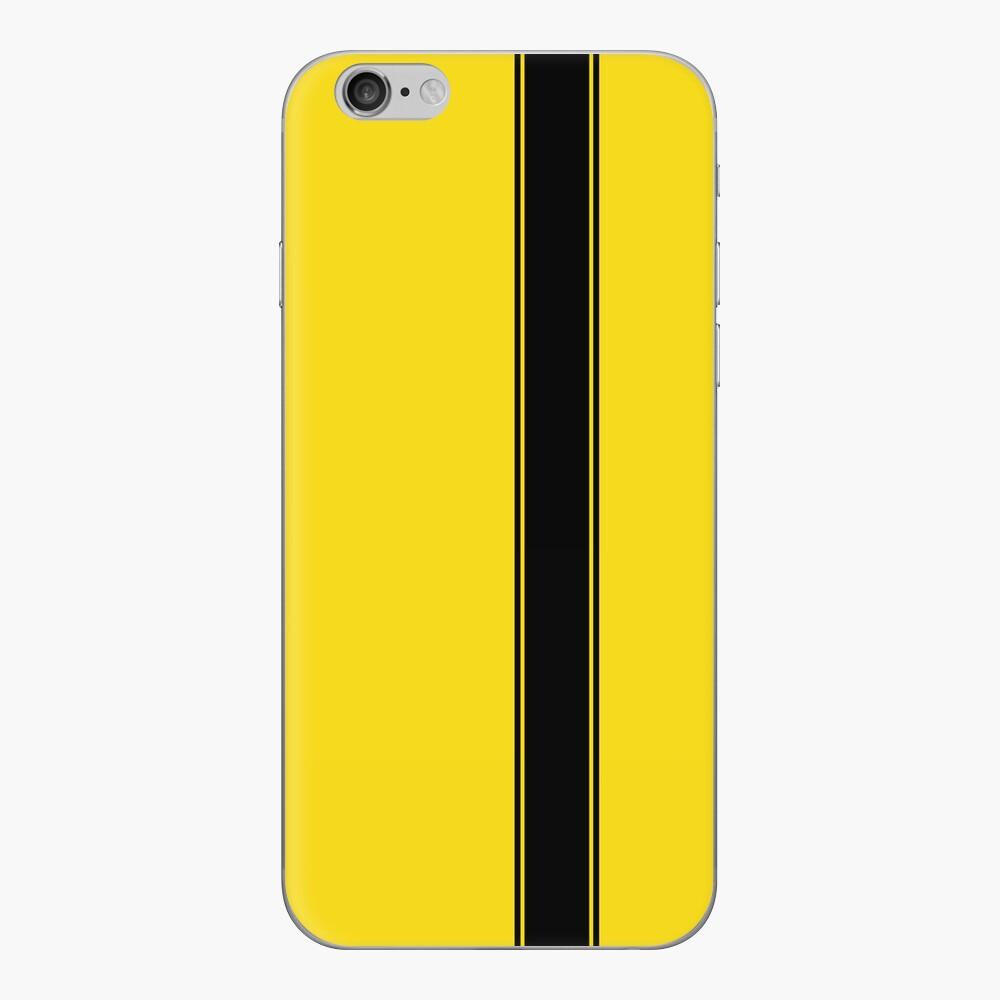 Racing Stripe - Black on Yellow iPhone-Hüllen & Cover