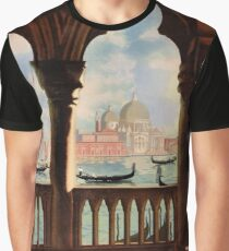 Venice Venezia Vintage Travel Poster Restored Graphic T-Shirt