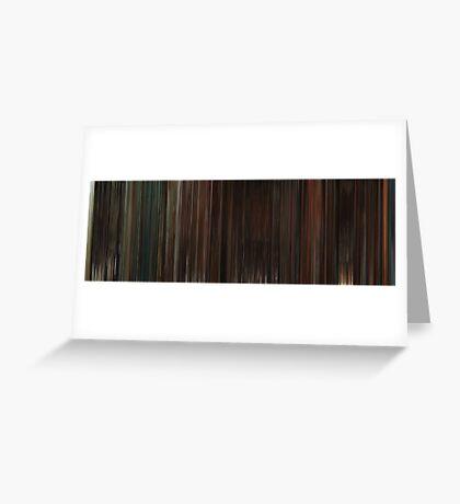 Moviebarcode: Inglourious Basterds (2009) Greeting Card