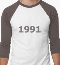 DOB - 1991 Men's Baseball ¾ T-Shirt