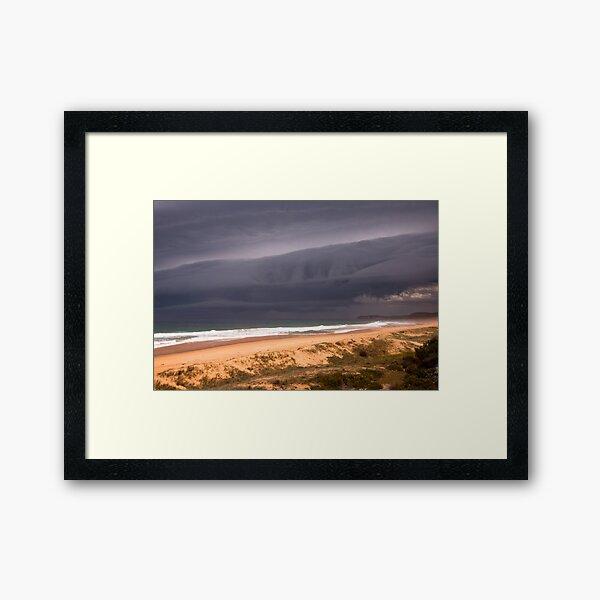 Storm over Mimosa Rocks Framed Art Print