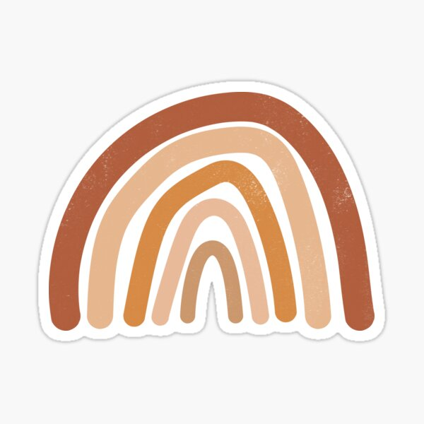 minimalistic earth toned rainbow design, for the lover of simplicity Sticker