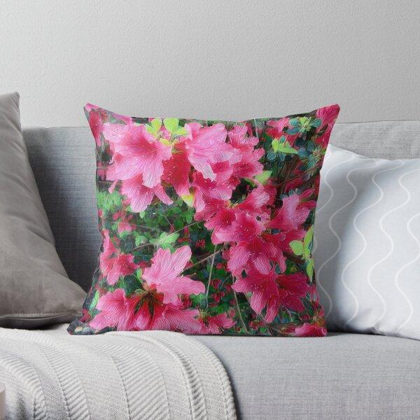Azalea Spring Beauty Throw Pillow