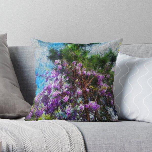 Wisteria Pines Throw Pillow
