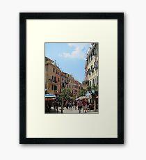 Cinque Terre village Framed Print