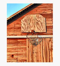 Barn Hoops Photographic Print