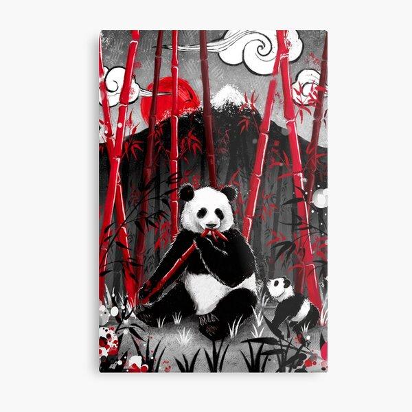 Japan Collection - Bamboo Panda Metal Print