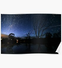 Space Station Meets Comet Lovejoy Poster