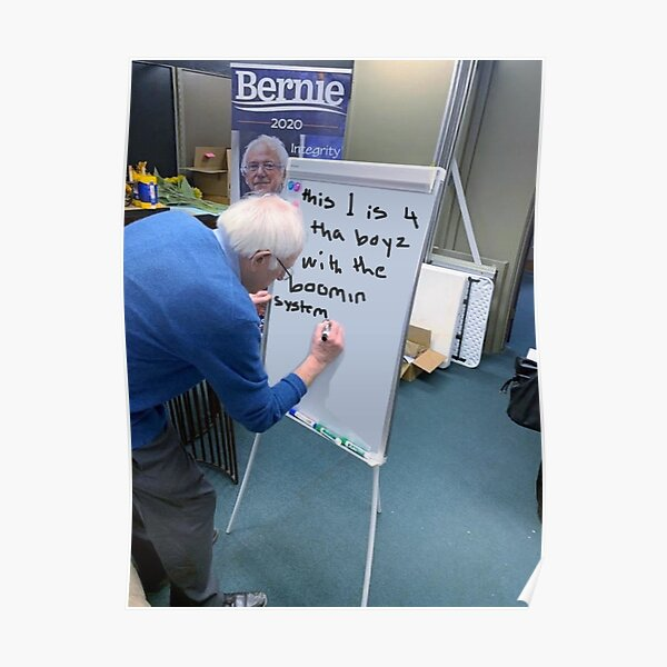 bernie is a barb Poster