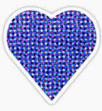 halftone heartblue Sticker