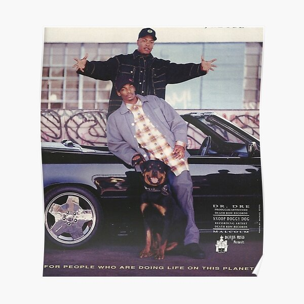 Vintage Snoop Doggy Dogg et Dr Dre Poster