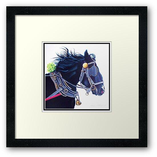 Horse in Dress Harness by Dan Wilcox