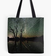 Space Station Meets Comet Lovejoy #2 Tote Bag