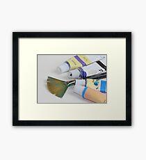 Brush with Acrylic Framed Print