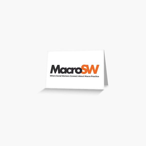 MacroSW Logo with Tagline Greeting Card