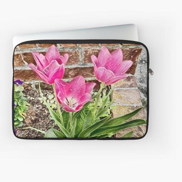 Pretty Pink Tulips Laptop Sleeve