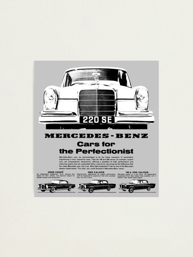 Mercedes Benz W110 Fintail Photographic Print By Throwbackm2 Redbubble