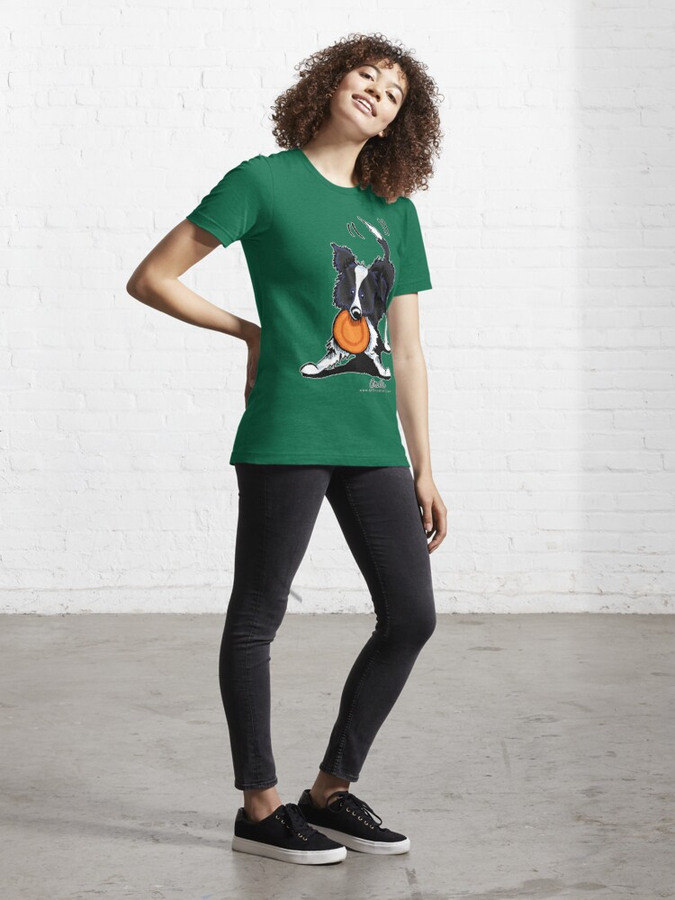 Alternate view of Border Collie @ Play Essential T-Shirt