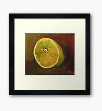 Half a lemon Framed Print