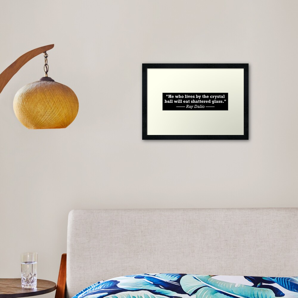 Ray Dalio Quote - Investing Motivation Framed Art Print