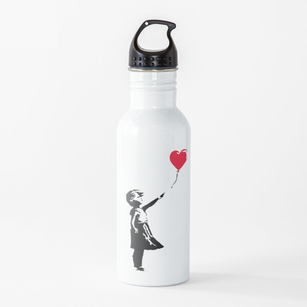 Banksy Girl with Balloon  Water Bottle